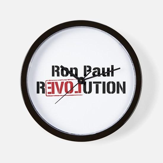 Ron Paul Revolution Wall Clock