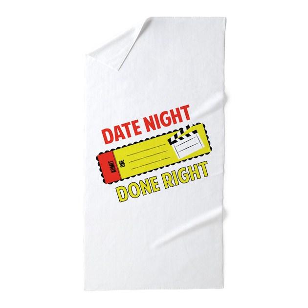Beach Blanket Date: Date Night Beach Towel By Windmill46
