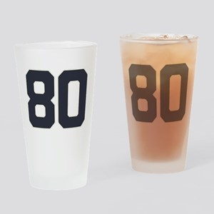 80 80th Birthday 80 Years Old Drinking Glass