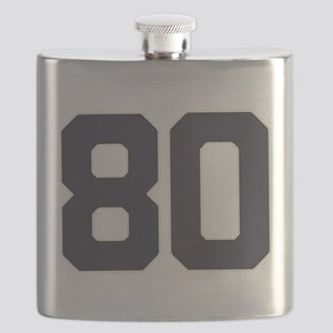 80 80th Birthday 80 Years Old Flask
