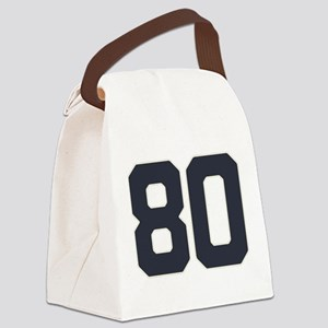 80 80th Birthday 80 Years Old Canvas Lunch Bag