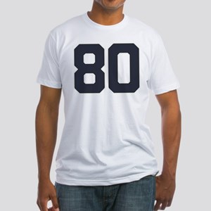 80 80th Birthday 80 Years Old Fitted T-Shirt