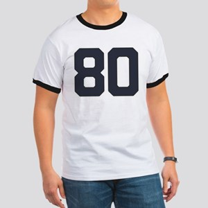 80 80th Birthday 80 Years Old Ringer T