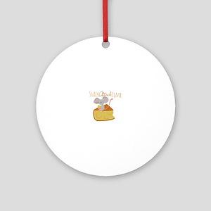 Snack Attack Time Ornament (Round)