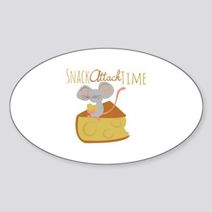 Snack Attack Time Sticker