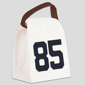 85 Happy 85th Birthday Boy Girl. Canvas Lunch Bag