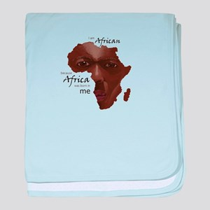 Africa was Born in Me baby blanket
