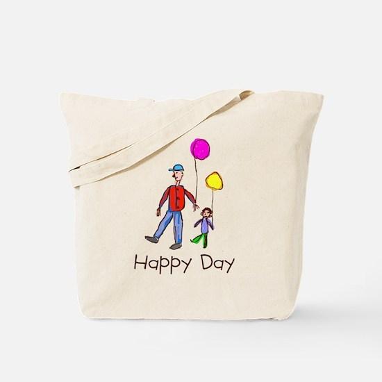 Kid Art Happy Day Tote Bag