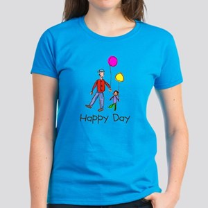 Kid Art Happy Day Women's Dark T-Shirt