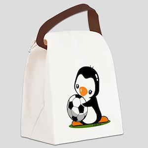I Love Soccer (5) Canvas Lunch Bag