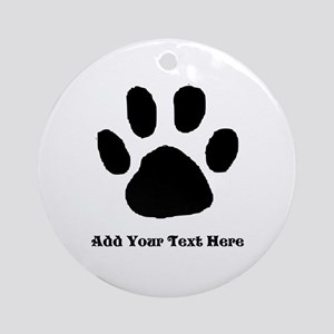 Paw Print Template Ornament (round)