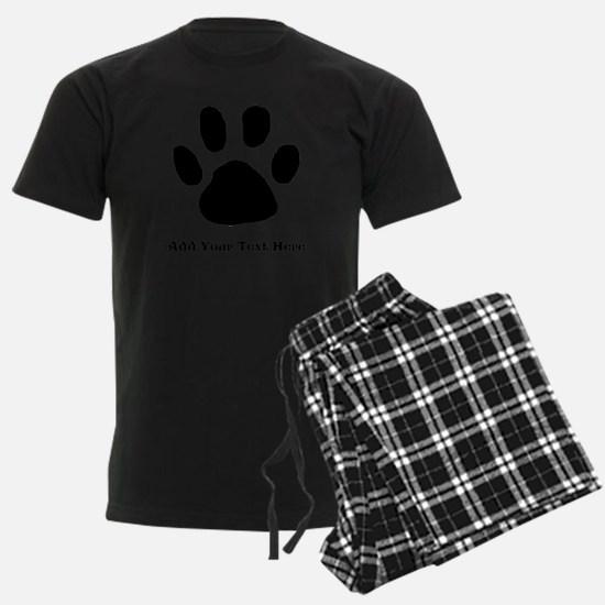 Paw Print Template Pajamas