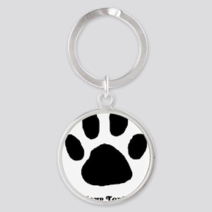 Paw Print Template Keychains