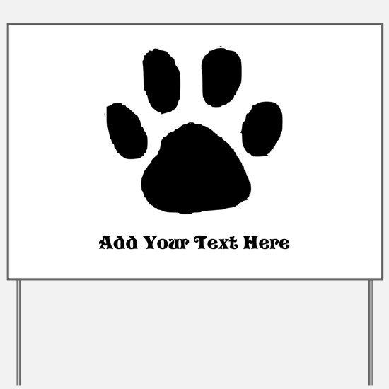 Paw Print Template Yard Sign