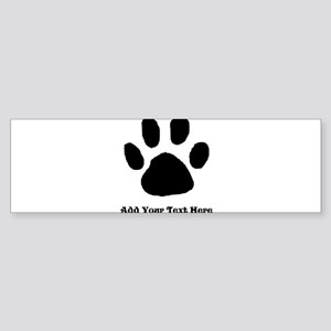 Paw Print Template Bumper Sticker