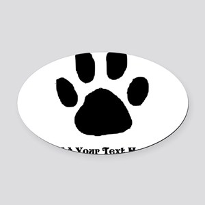 Paw Print Template Oval Car Magnet