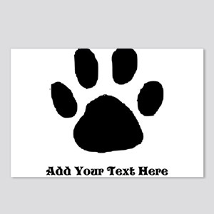 Paw Print Template Postcards (Package of 8)