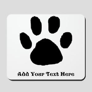 Paw Print Template Mousepad