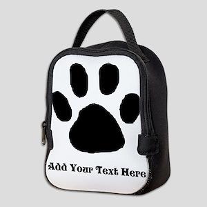 Paw Print Template Neoprene Lunch Bag