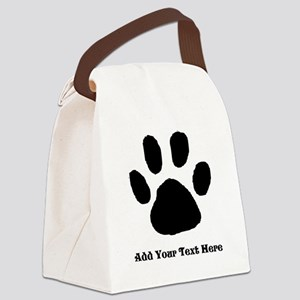 Paw Print Template Canvas Lunch Bag