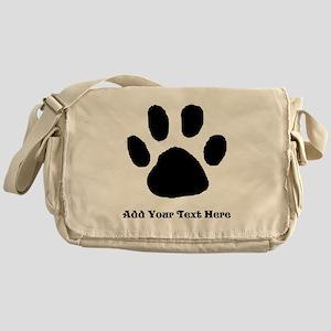 Paw Print Template Messenger Bag