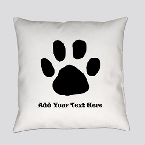 Paw Print Template Everyday Pillow