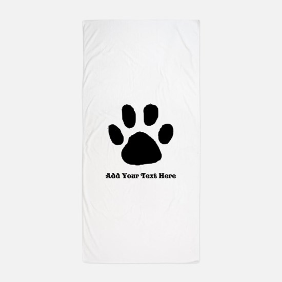 Paw Print Template Beach Towel
