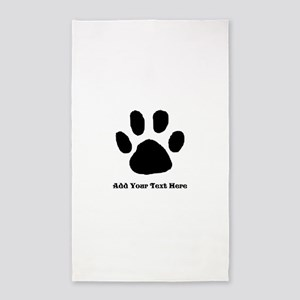 Paw Print Template Area Rug