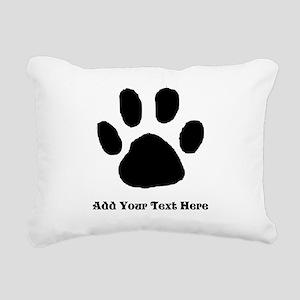 Paw Print Template Rectangular Canvas Pillow