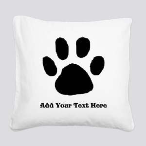 Paw Print Template Square Canvas Pillow