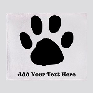 Paw Print Template Throw Blanket