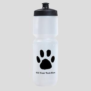 Paw Print Template Sports Bottle
