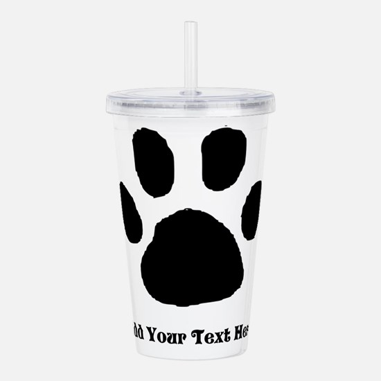 Paw Print Template Acrylic Double-Wall Tumbler