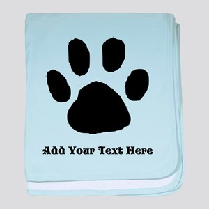 Paw Print Template baby blanket