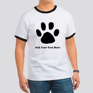 Paw Print Template T-Shirt