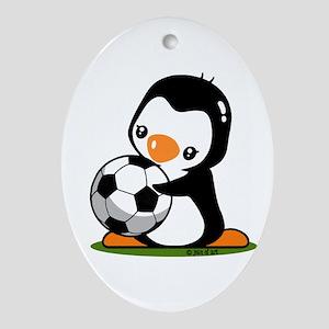 I Love Soccer (5) Oval Ornament