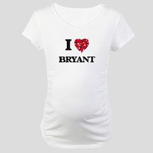 I Love Bryant Maternity T-Shirt