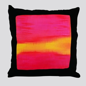 ROTHKO PINK RED YELLOW Throw Pillow