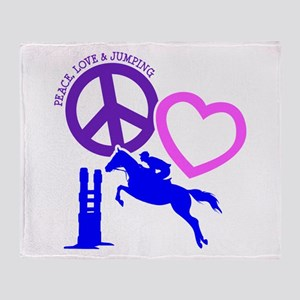 P,L,JUMPING Throw Blanket