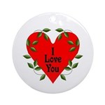 I Love You Valentines Ornament (Round)