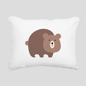 Brown Bear Rectangular Canvas Pillow