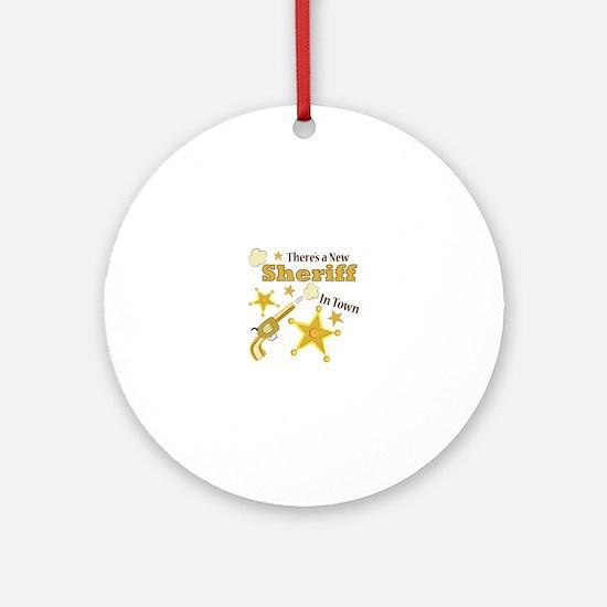 New Sheriff Ornament (Round)