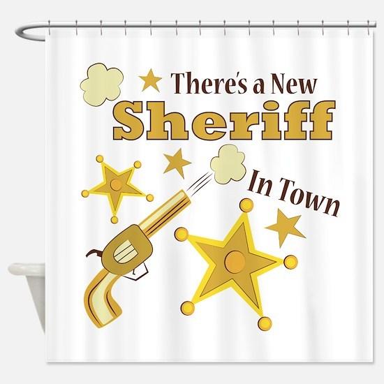 New Sheriff Shower Curtain