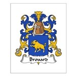 Brouard Family Crest Small Poster