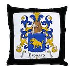 Brouard Family Crest Throw Pillow