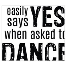 Says Yes when Asked to Dance Framed Print