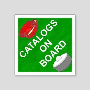 Catalogs On Board Sticker