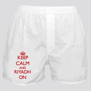 Keep Calm and Riyadh ON Boxer Shorts