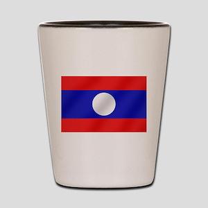 Flag of Laos Shot Glass