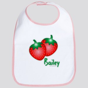 """""""Bailey"""" Strawberry Bib"""
